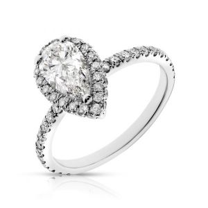 PEAR SHAPE HALO RING