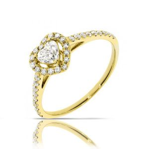 HEART SHAPE HALO RING